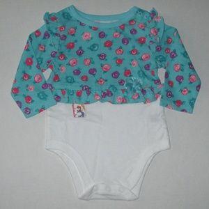 New Girls Size 3-6 mths Garanimals Creeper Shirt